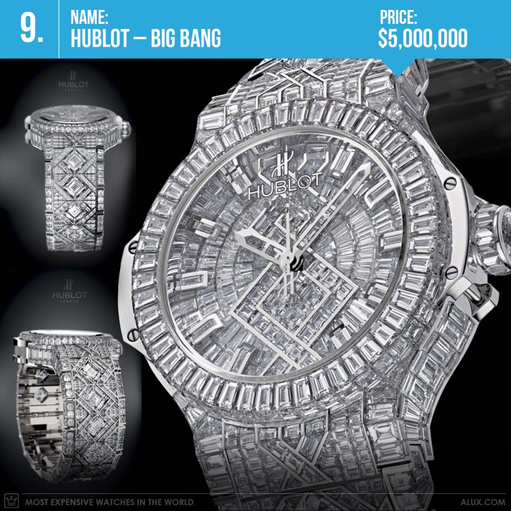 Most expensive watches in the world 2019 hublot big bang diamond watch price alux