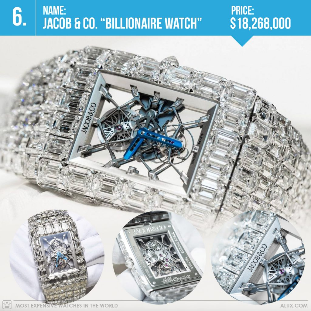 most expensive watches in the world 2019 jacob co billionaire watch price alux