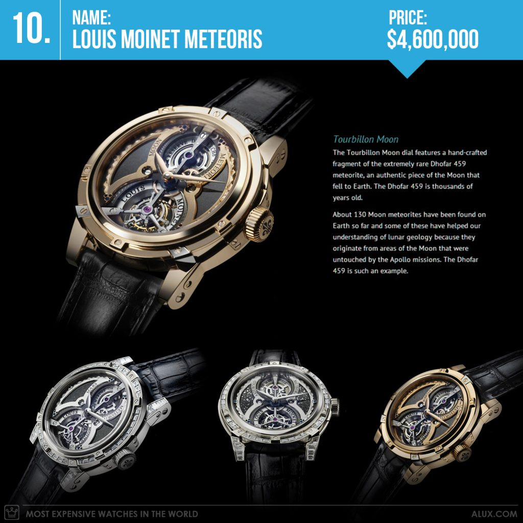 most expensive watches in the world 2019 louis moinet meteoris price alux