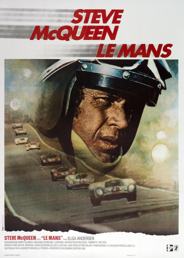 stylish vintage racing posters alux Steve McQueen Le Mans Poster