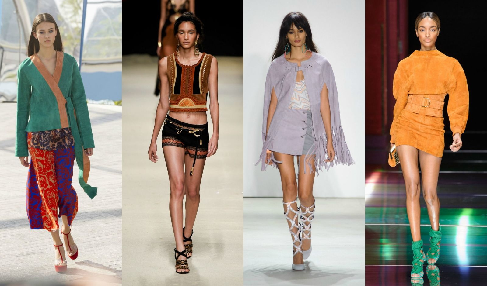 Fashion Trends for Spring 2016 | From left to right: Jonathan Saunders, Alberta Ferretti, Rebecca Minkoff and Olivier Rousteing