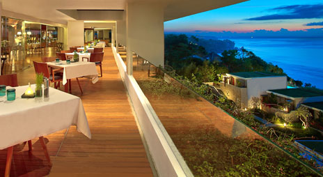 Enjoy your meal with the 180 degree view of the ocean from the hill.