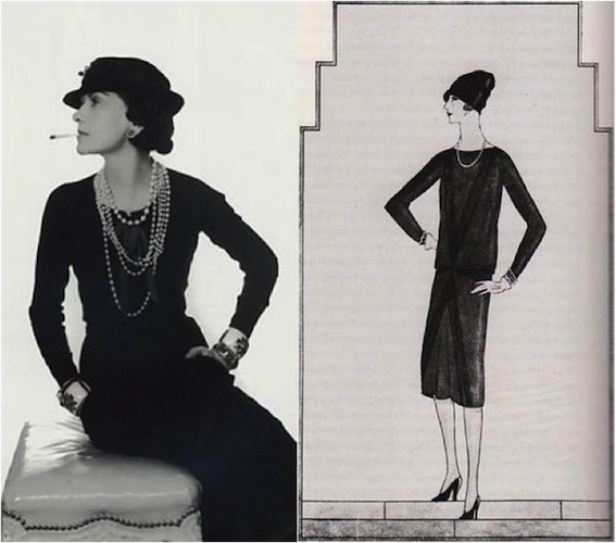 15 Things You Didn't Know About Coco Chanel | Coco Chanel's sketch of the Little Black Dress, circa 1926