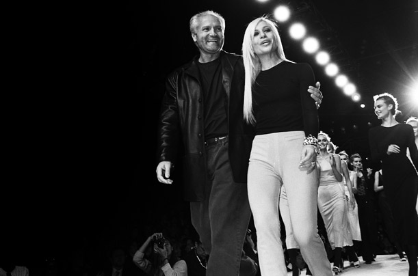 15 Things You Didn't Know About Gianni Versace | Gianni and Donatella in 1996