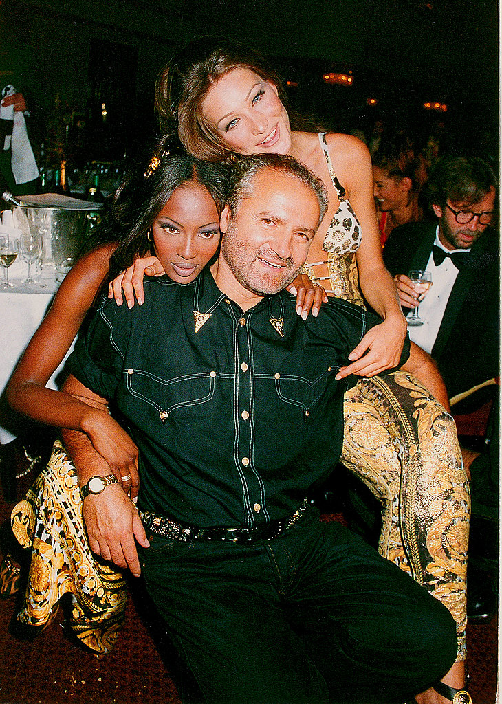 15 Things You Didn't Know About Gianni Versace |Gianni, Naomi Campbell and Carla Bruni