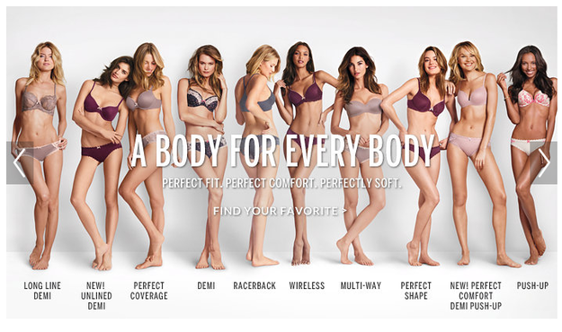 "15 Things You Didn't Know About Victoria's Secret | Victoria's Secret "" A Body For Every Body"" ad campaign"