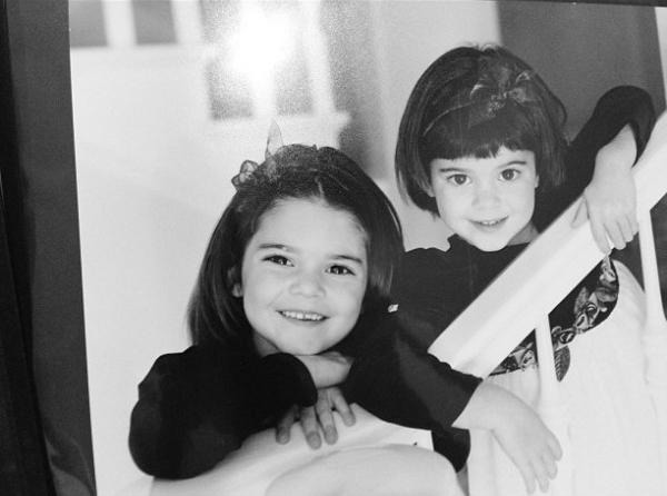 15 Things You Probably Didn't Know About Kendall Jenner| Childhood photo of Kendall and Kylie Jenner