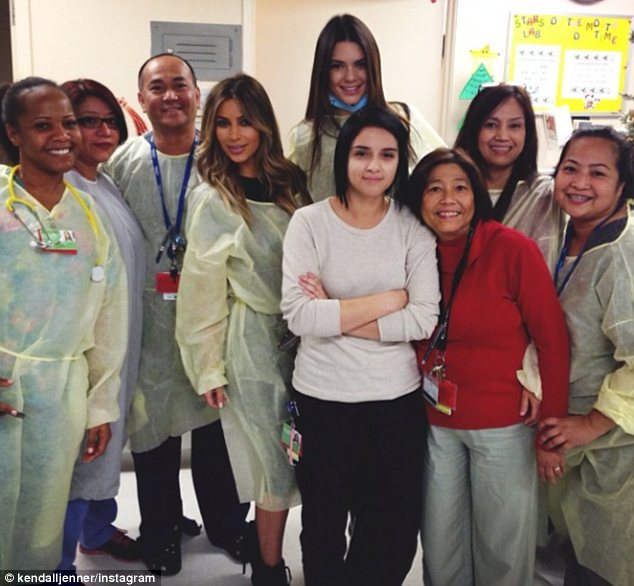 15 Things You Probably Didn't Know About Kendall Jenner| Kendall Jenner and Kim Kardashian at LA Children's Hospital