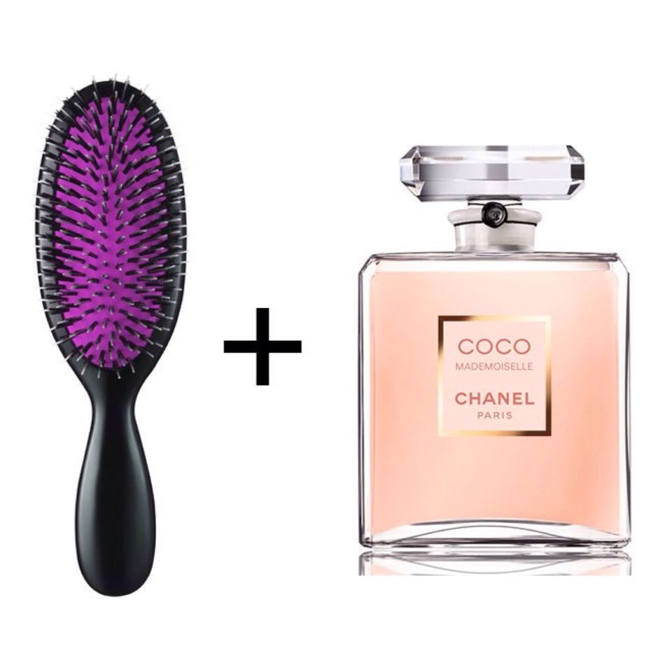 You apply perfume the same way on short and long hair