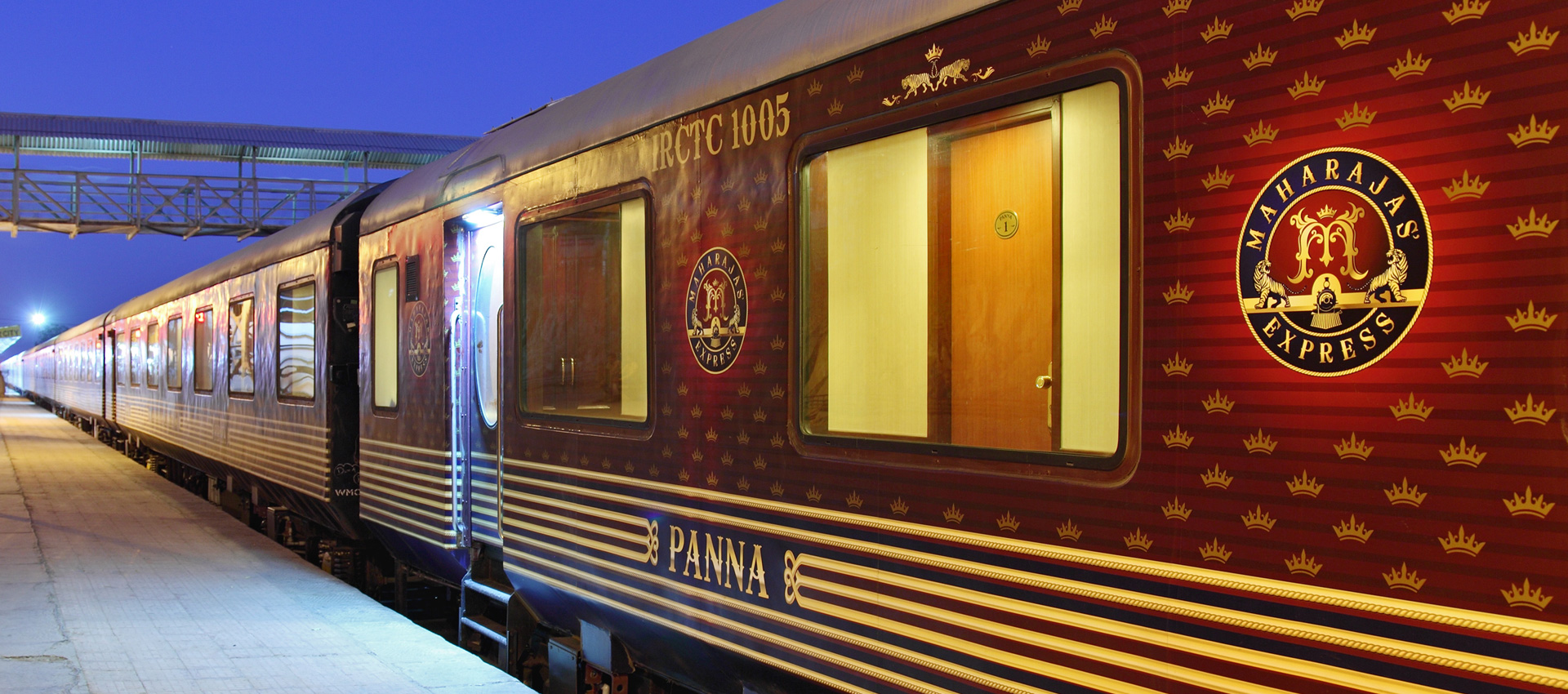 10 Fascinating Facts About The Maharajas' Express In India | The Maharajas' Express at a station
