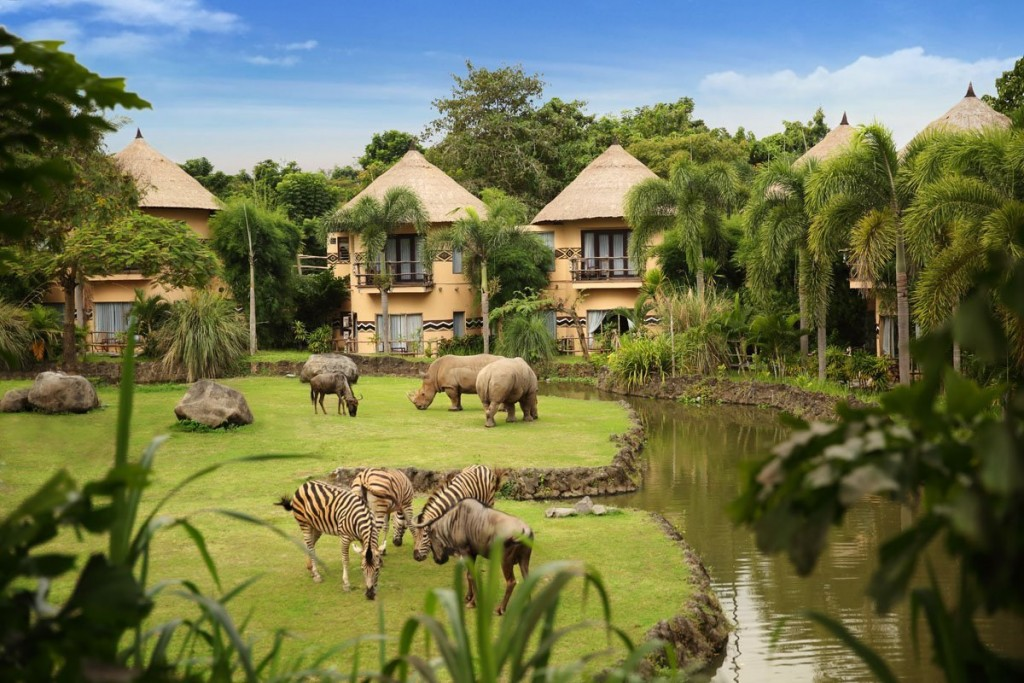 Enjoy the wildlife view from your luxurious bedroom.