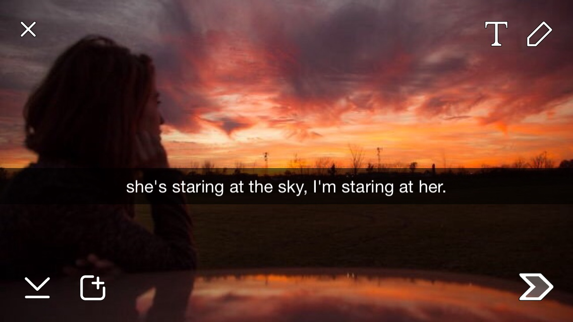staring at her