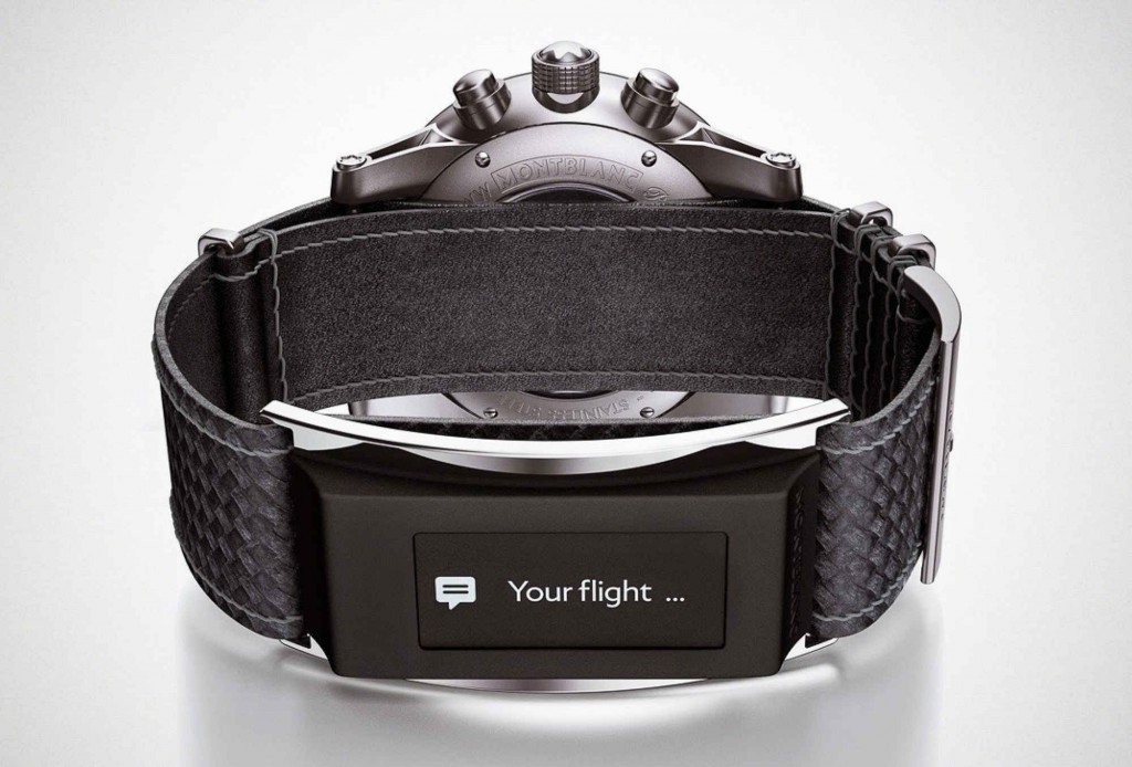 Top 10 Most Expensive Smartwatches Montblanc Timewalker e-Strap ($4,000)