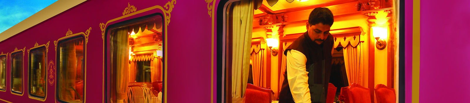 10 Fascinating Facts About The Maharajas' Express In India | Maharajas' staffs at service