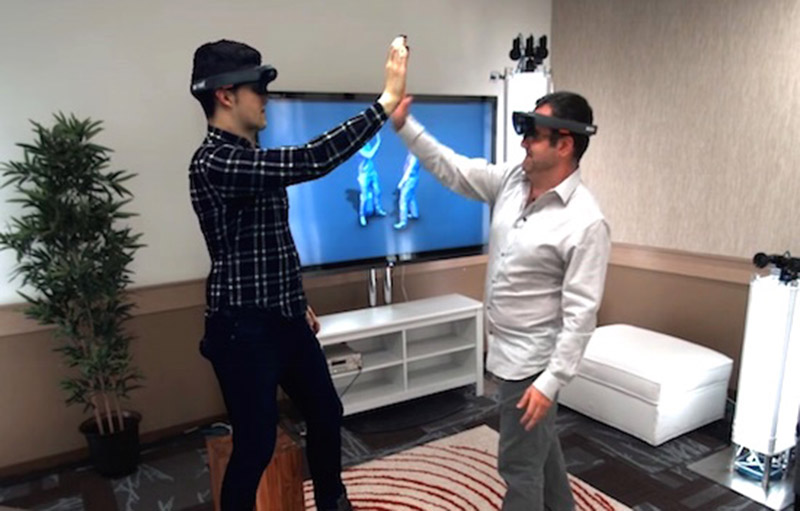 virtual 3d teleportation holoportation hololens video