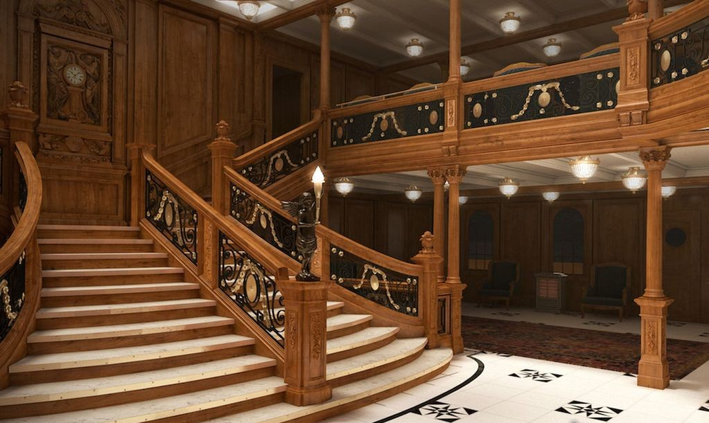 Inside The Vivacious Titanic II | Titanic II Grand staircase