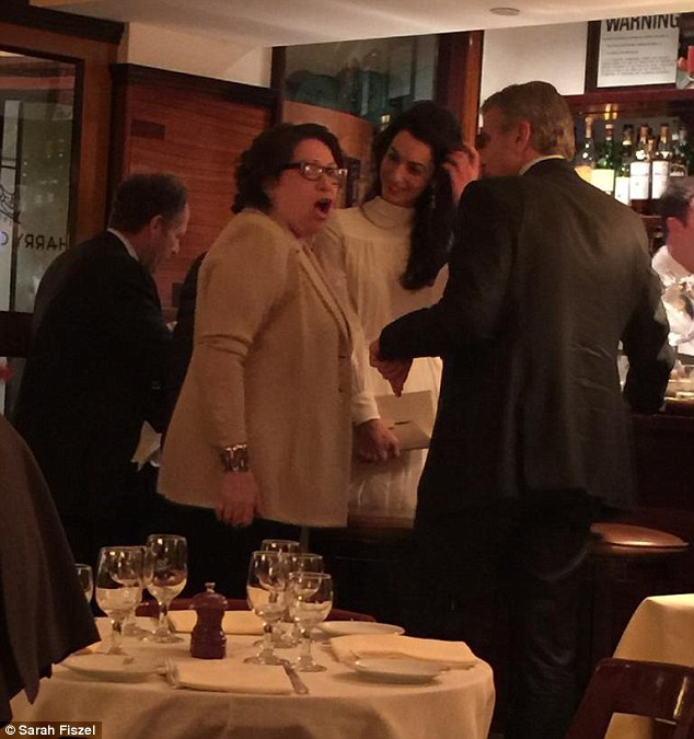 Celebrities Hang Out Spots Amal and George Clooney at Cipriani Restaurant, New York