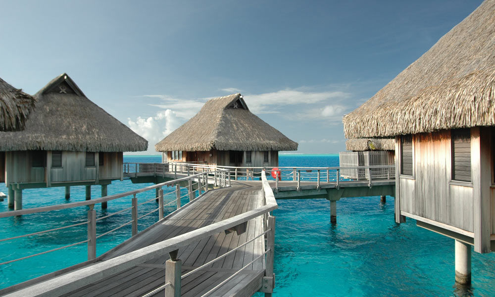 Kardashian's favourite luxury resorts Bora Bora walkway