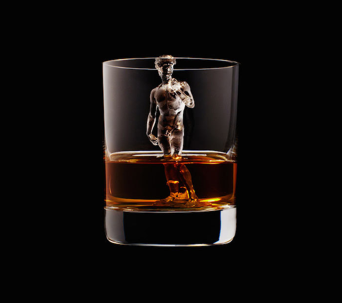 Luxury Ice Cube Sculptures from Japan Michelangelo David