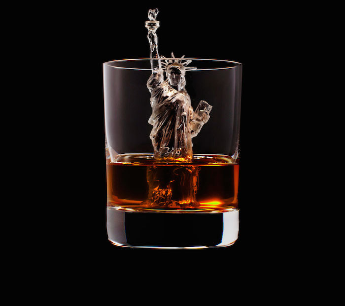 Luxury Ice Cube Sculptures from Japan Statue of Liberty