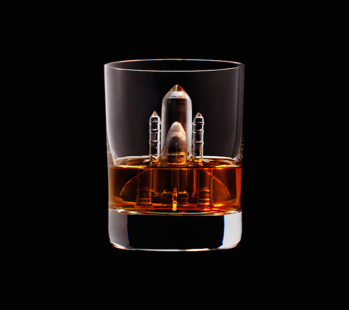 Luxury Ice Cube Sculptures from Japan rocket
