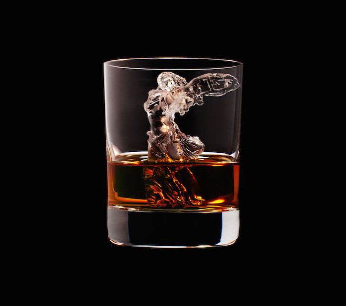 Luxury Ice Cube Sculptures from Japan angel
