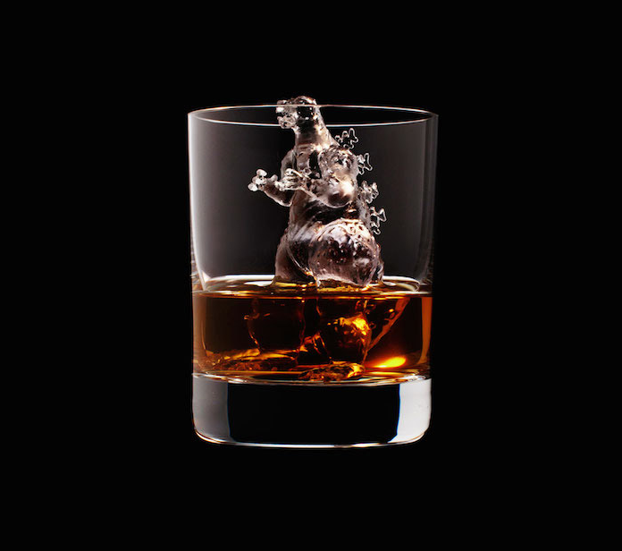 Luxury Ice Cube Sculptures from Japan godzilla