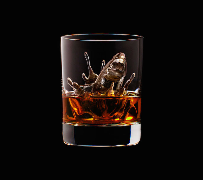 Luxury Ice Cube Sculptures from Japan shark