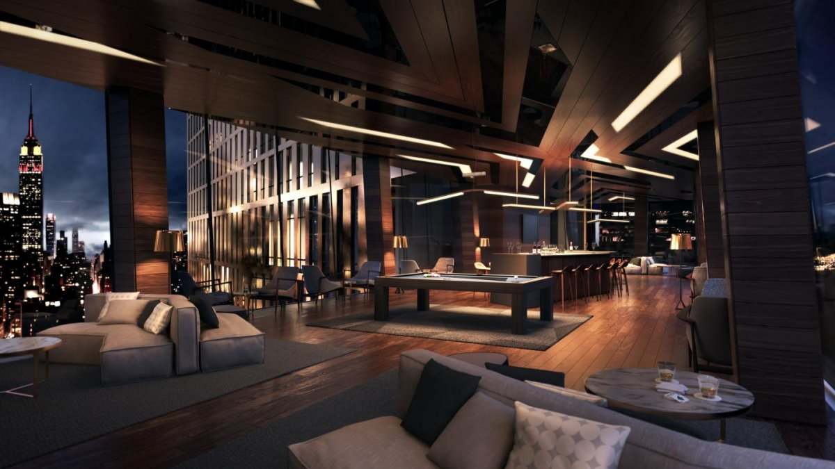 luxury copper apartments interior