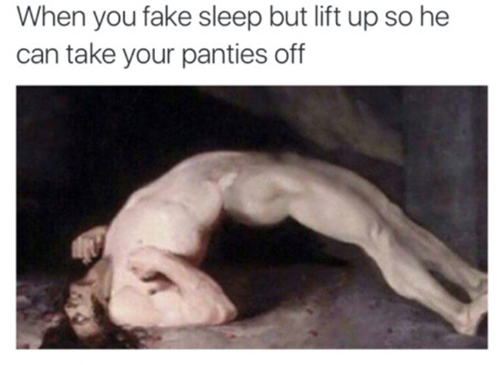 fake sleep