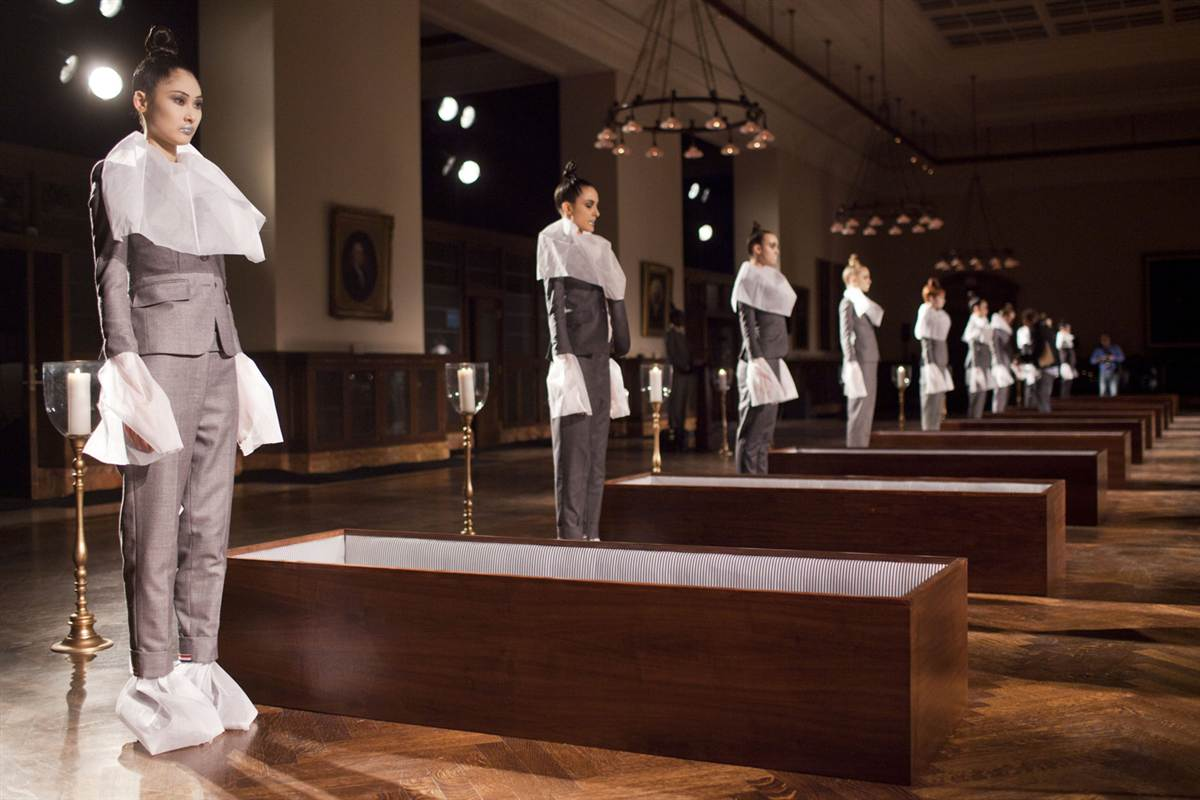 Thom Browne 2012 runway most extravagant fashion shows
