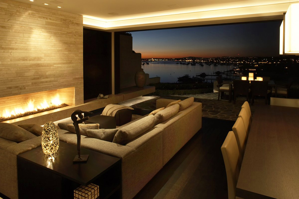 luxury home california best views ever- sunset view from living room