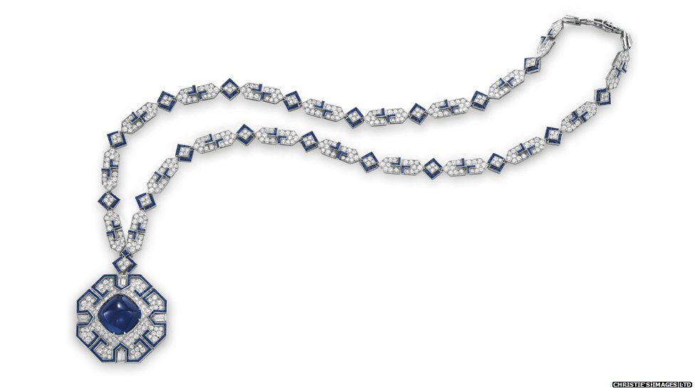 15 Most Expensive Diamond Necklaces in the World | #13. Elizabeth Taylor's Sapphire and Diamond Sautoir ($5.9 million)