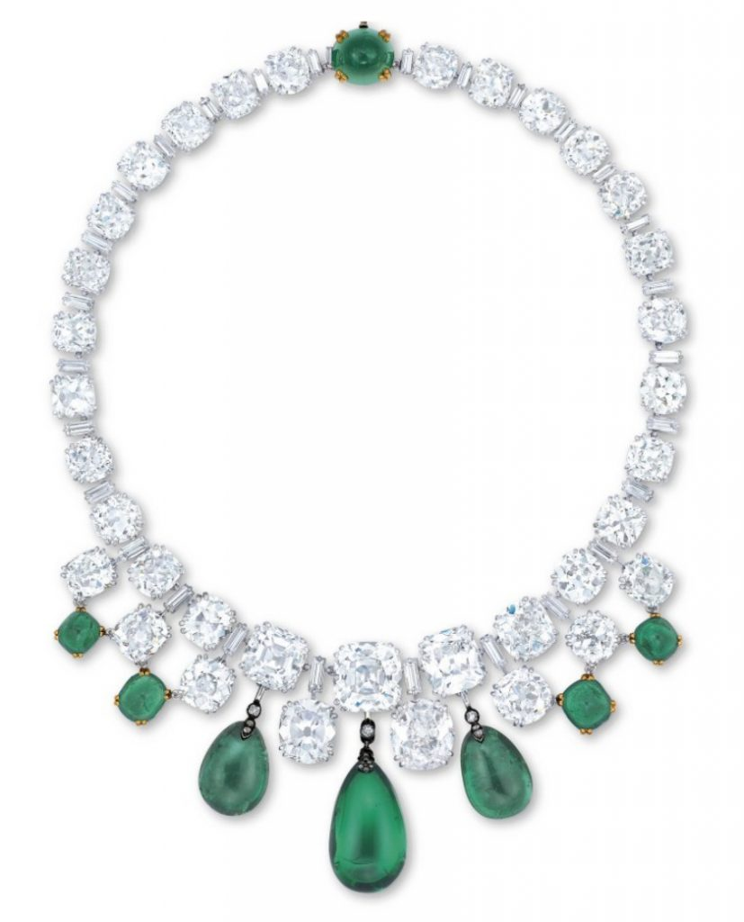 15 Most Expensive Diamond Necklaces in the World | #14. Boucheron Emerald and Diamond Necklace ($5.7 million)