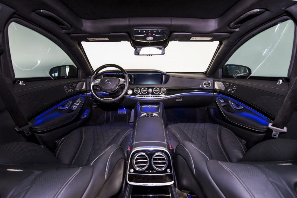 Armored Mercedes Maybach - Interior of the Mayback S600