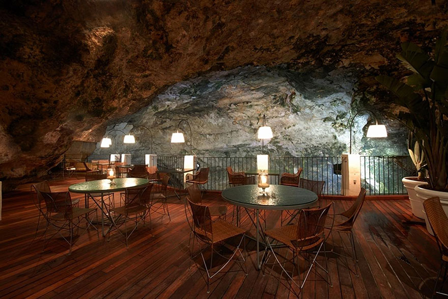Cave Restaurant - Night view