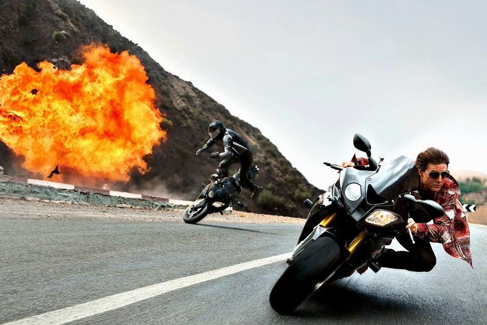 What Makes Tom Cruise Irresistible? | Tom Cruise riding a motorcycle in Mission Impossible
