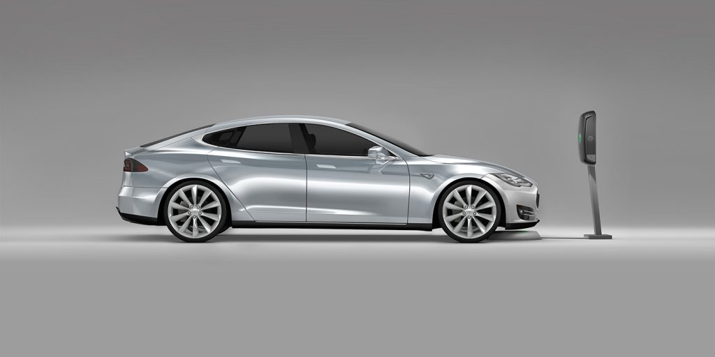 Tesla Model S Wireless Charging - Silver Tesla