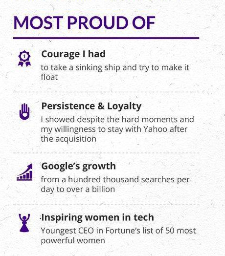 Marissa Mayer Resume - Most Proud Of...
