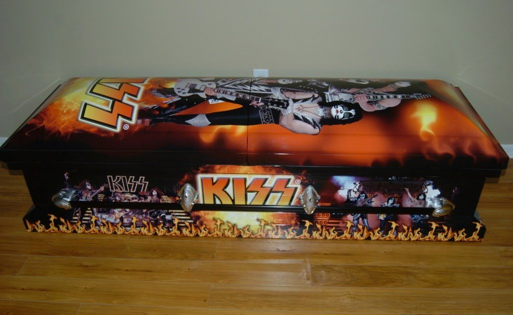 15 Most Expensive Caskets or Coffins in The World | #15. Kiss Themed Casket: $4,000