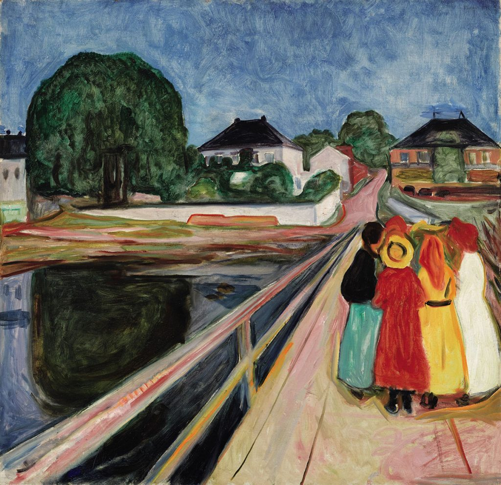 Girls on the Bridge - Edvard Munch