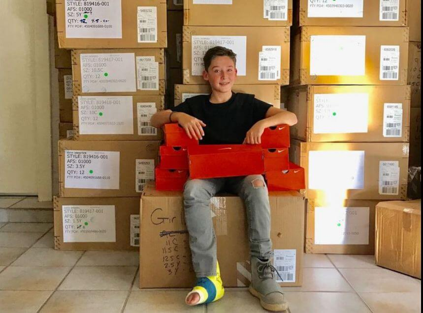 Boy Buys 400 Pairs of Nikes Using his Bar Mitzvah Money to Donate Them