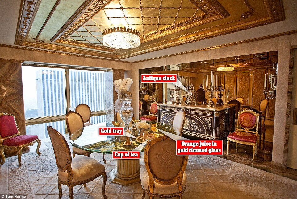 Take a Look Inside at President Trump's $100 Million Penthouse