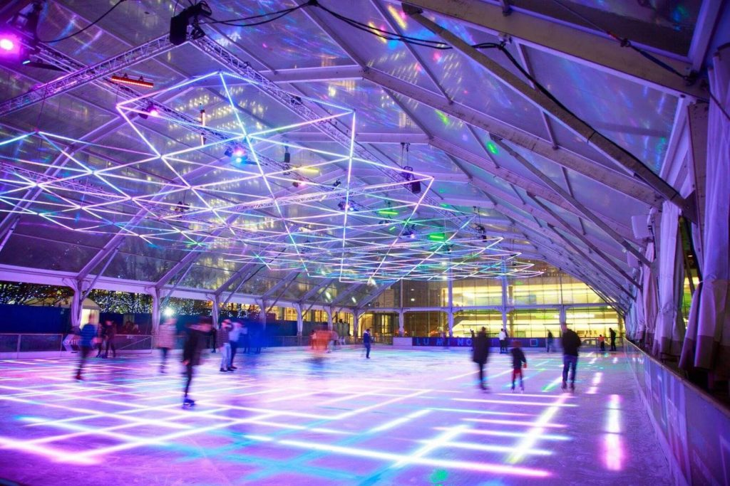 London's First LED Ice Rink