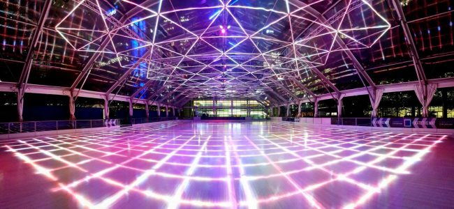 This is London's First LED Ice Rink Made of 500k Individual LED Lights