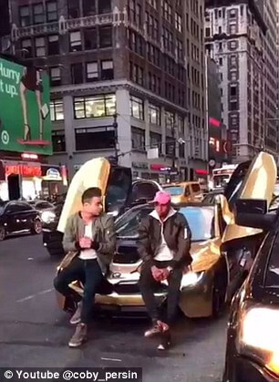 """f27ae27250da You Must See the Video of YouTube """"Star"""" Getting His BMW i8 Car Smashed"""