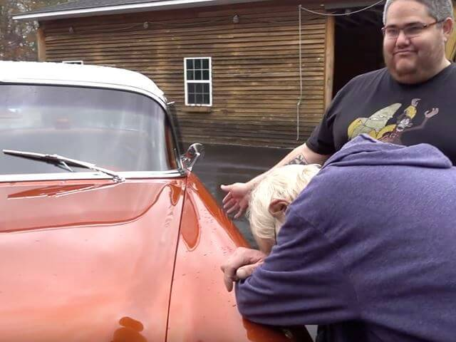 Son Gifts Grandpa His Dream '55 Chevrolet Bel Air Car for Christmas