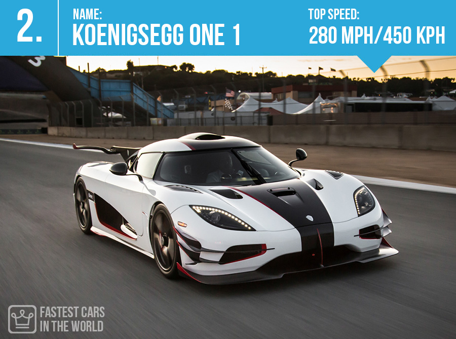 fastest cars in the world Koenigsegg One 1 top speed alux