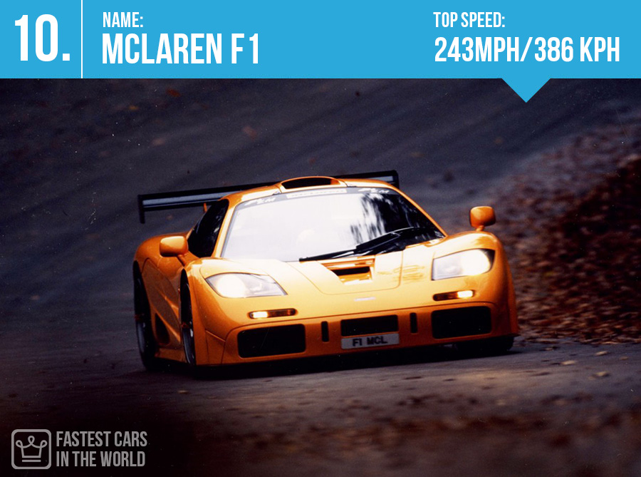 fastest cars in the world McLaren F1 top speed alux