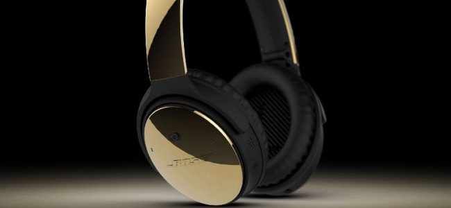 Bose QuietComfort 35 Headphones Get 24K Gold Makeover from ColorWare